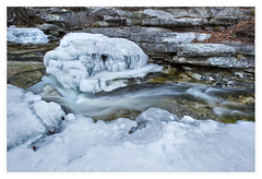 Icy flow on the Peter's Kill, Minnewaska State Park