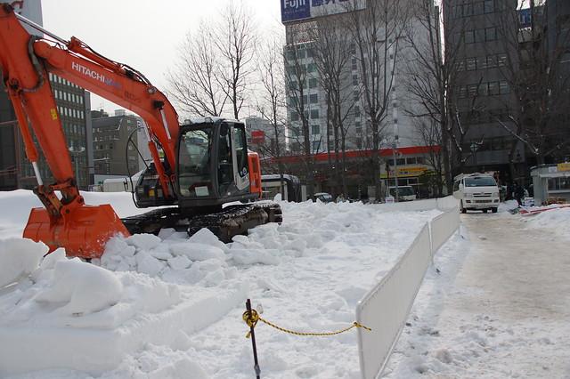 2016さっぽろ雪まつり 雪像解体_05