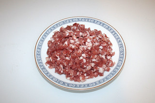 02 - Zutat Schinkenwürfel / Ingredient diced bacon