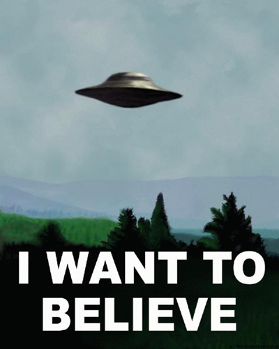 The X-Files - Mulder - I Want to Believe - Poster
