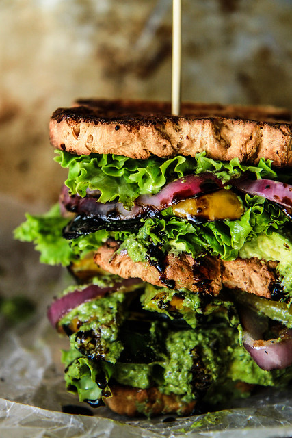 Ultimate Verde Veggie Sandwich- Gluten Free and Vegan from HeatherChristo.com