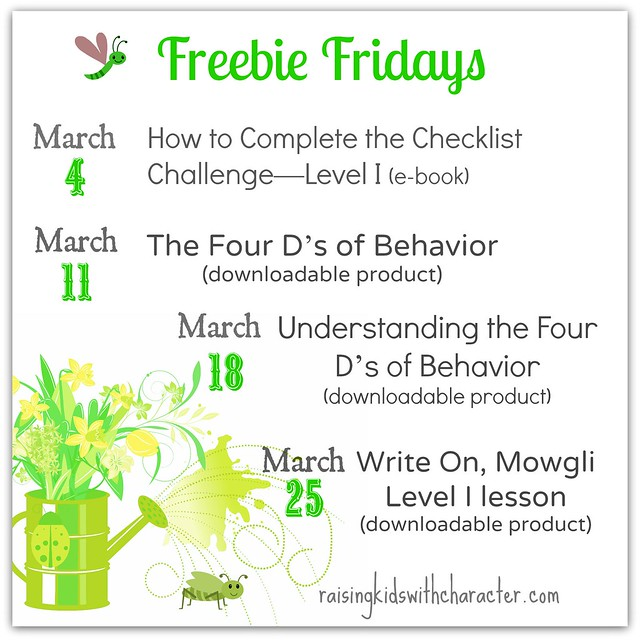 March Freebie Fridays