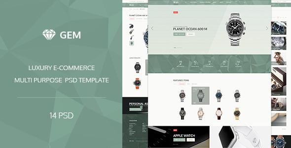 Gem – Luxury E-Commerce PSD theme