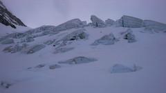 Seraki na lodowcu Munt Pers, podejście na Piz Palu.