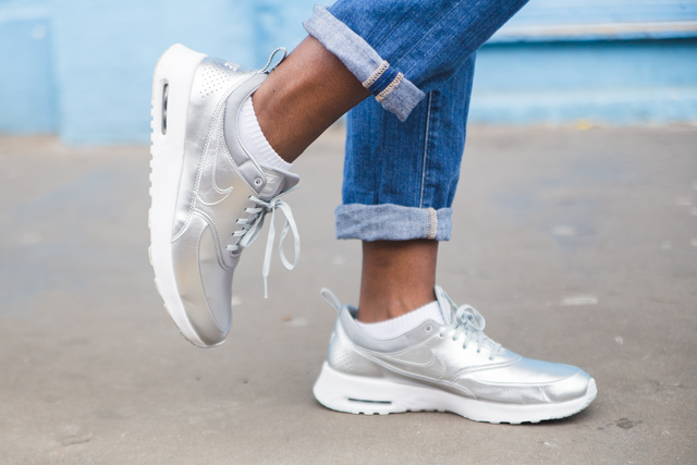 Nike Silver Air Max Thea Trainers