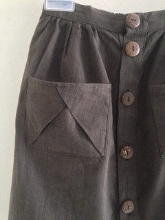 SEW-Brownie Skirt-Close