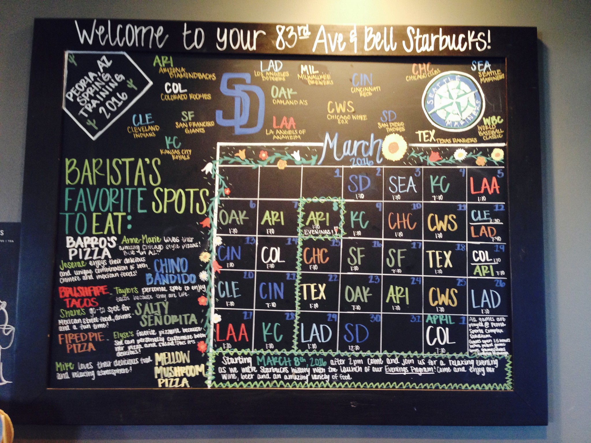 Sports is big at this Starbucks