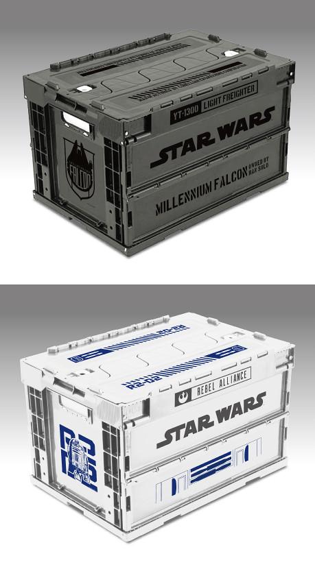 《星際大戰》紀念日折疊收納箱折りたたみコンテナ 將追加「千年鷹」「R2-D2」「BB-8」款式