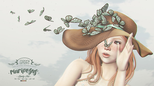 :Moon Amore: Mariposas Hat & Butterflies