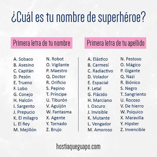 ¿Cuál es tu nombre de superhéroe? - Despiporre