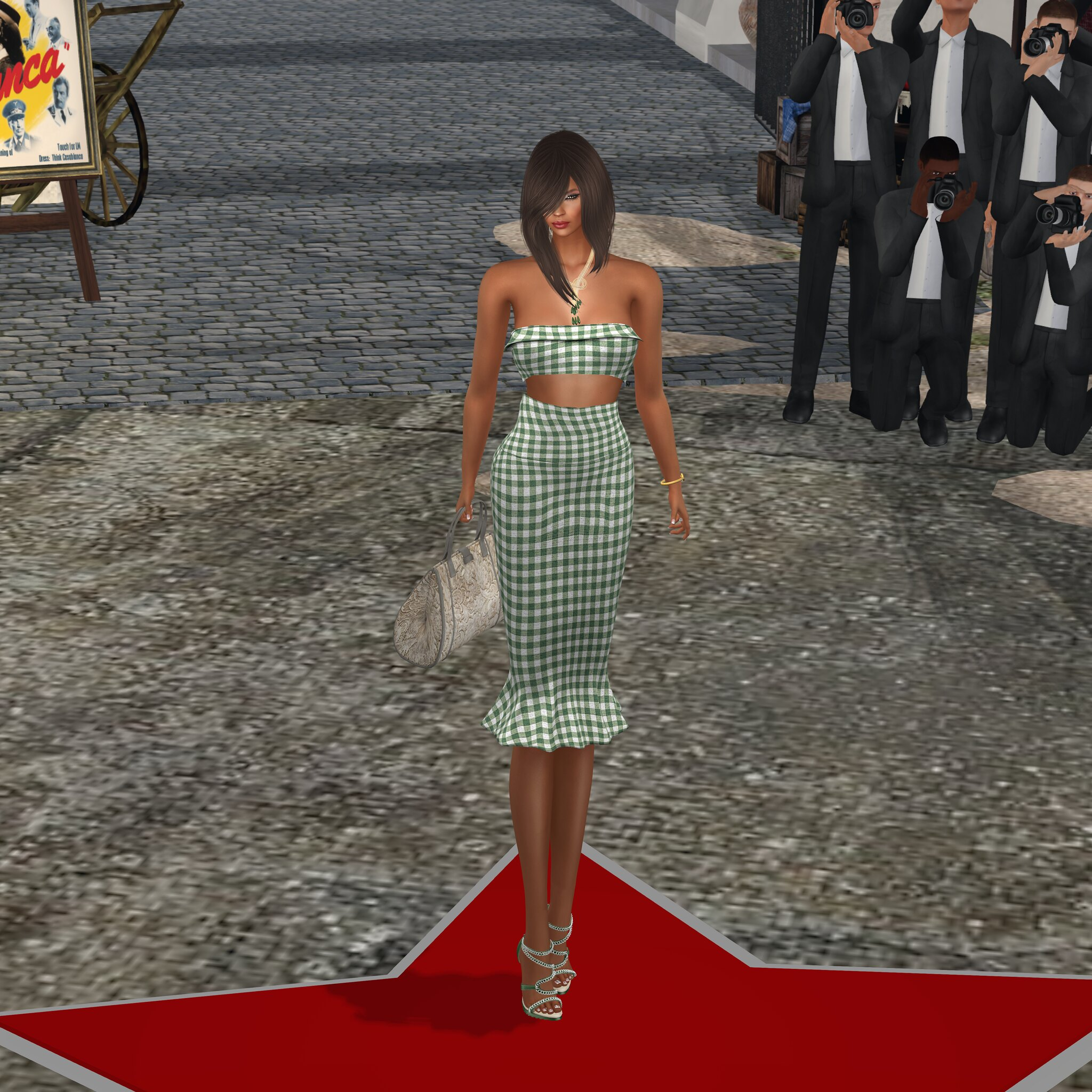 {AnaMarkova}@Designer Showcase- Aella Dress with Katina Heels