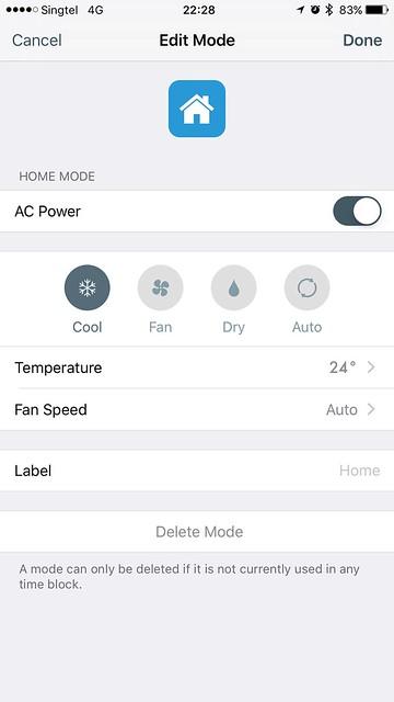 tado iOS App - Smart Schedule - Modes - Home Mode