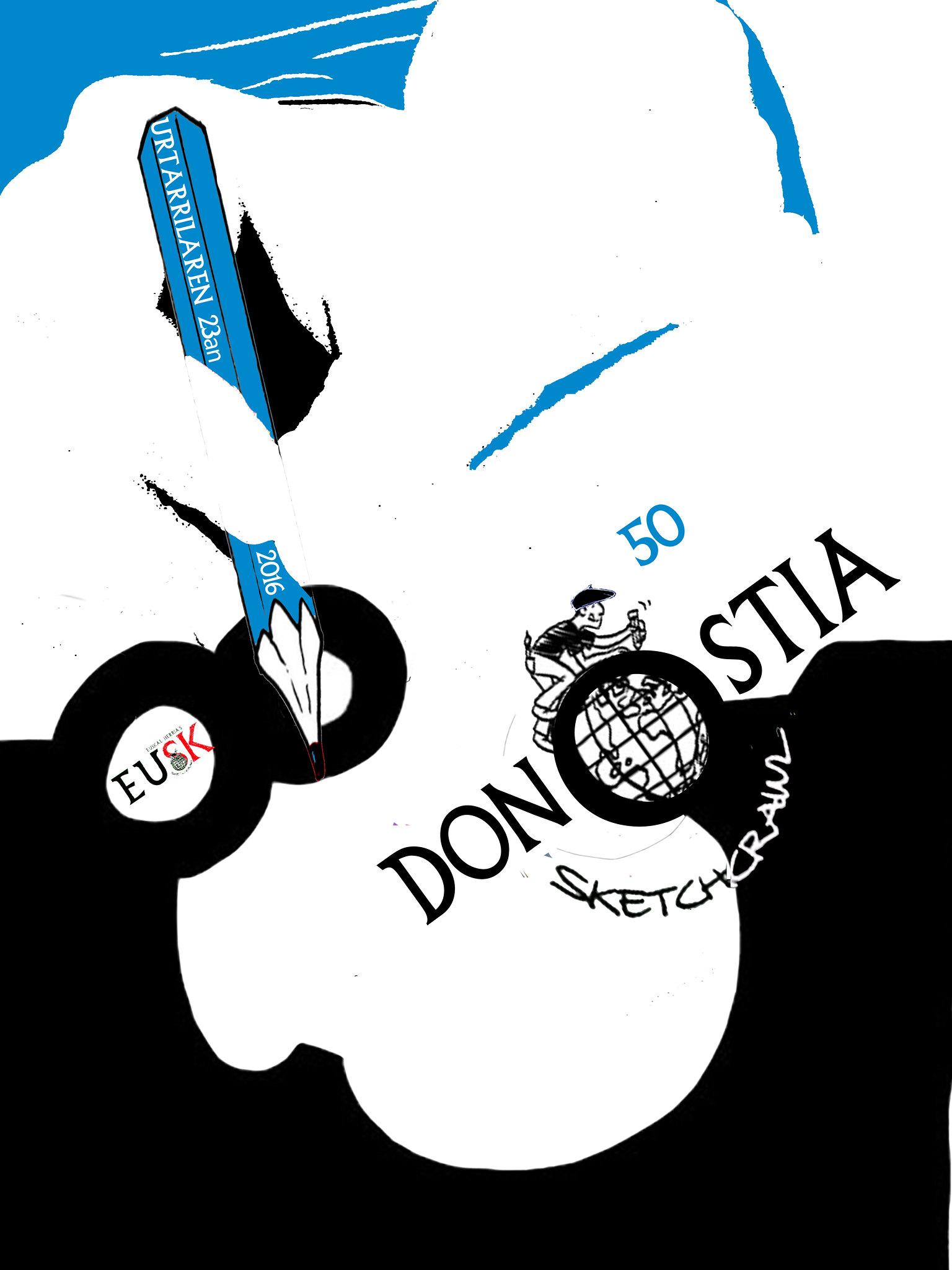 50th SketchCrawl Donostia 2016