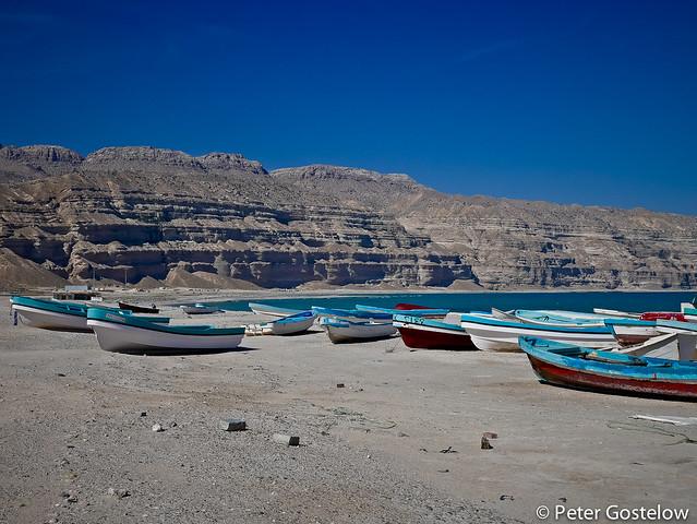 Fishing boats on Hasik beach