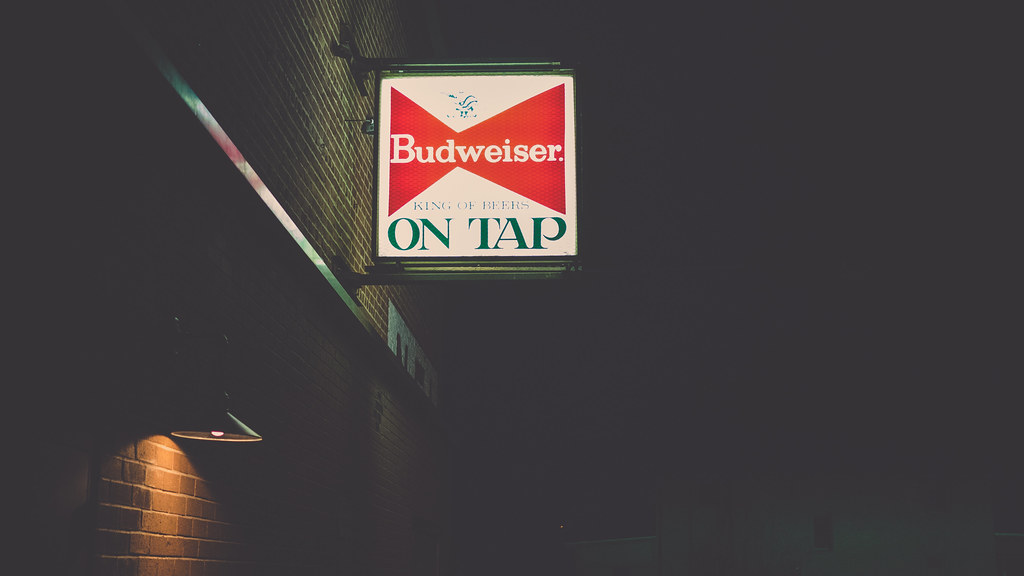 { Budweiser on tap }