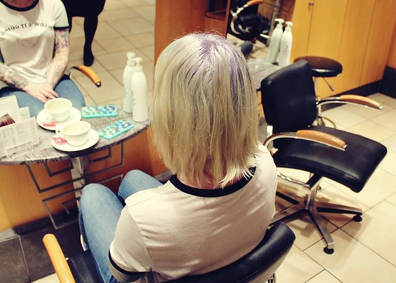 Hair before colour