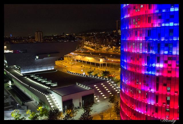 Fotografías Torre Agbar Barcelona - Torre Agbar desde azotea de hotel