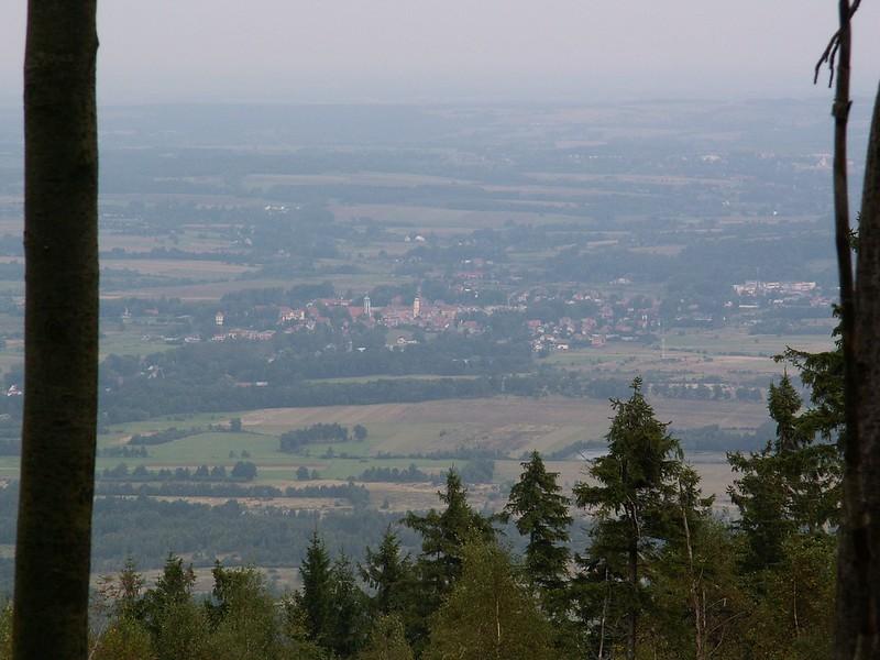 Widok z Sępiej Góry na Mirsk