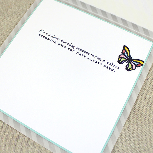 Rainbow Butterflies Card Interior