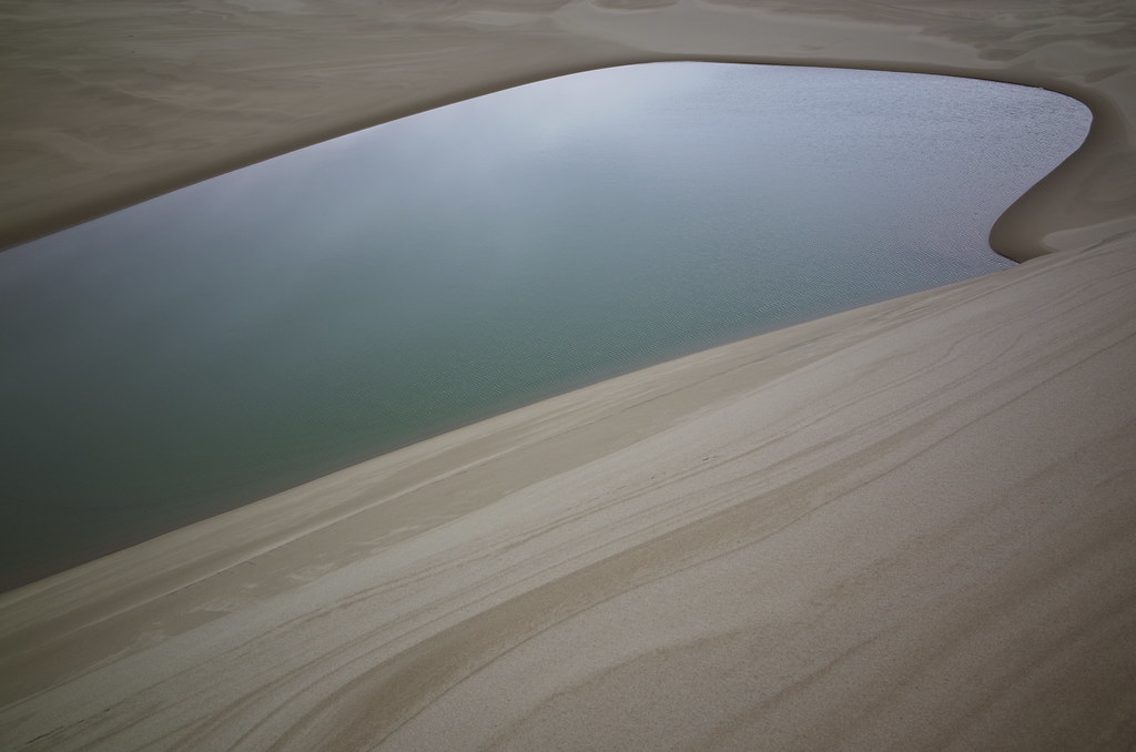 pool near eel creek on the sand dunes and close to the ocean, Dellenback Trail, Oregon