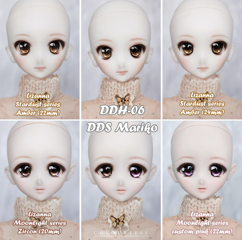Lizanna eye size comparisons
