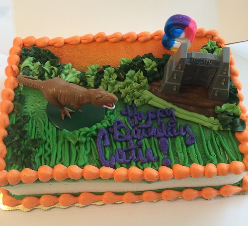 Jurassic World birthday cake