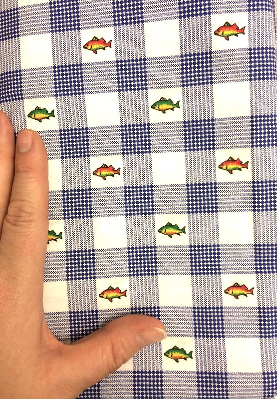 Rainbow trout plaid fabric