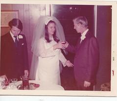 Bill, Paula, and Grady, B&P wedding