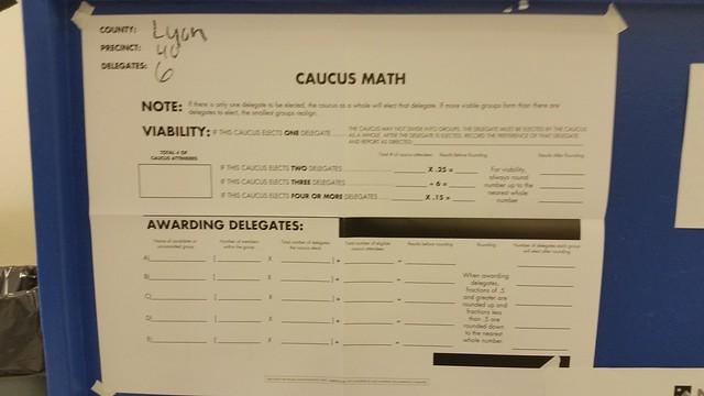 Nevada Caucus 2016: Caucus Math