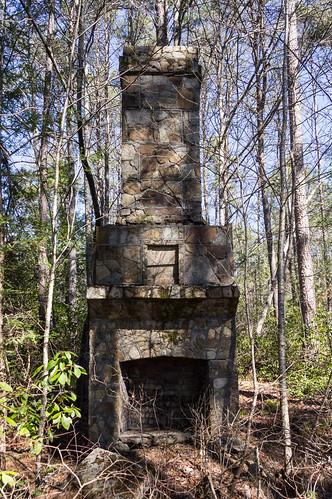 CCC recreation hall chimney