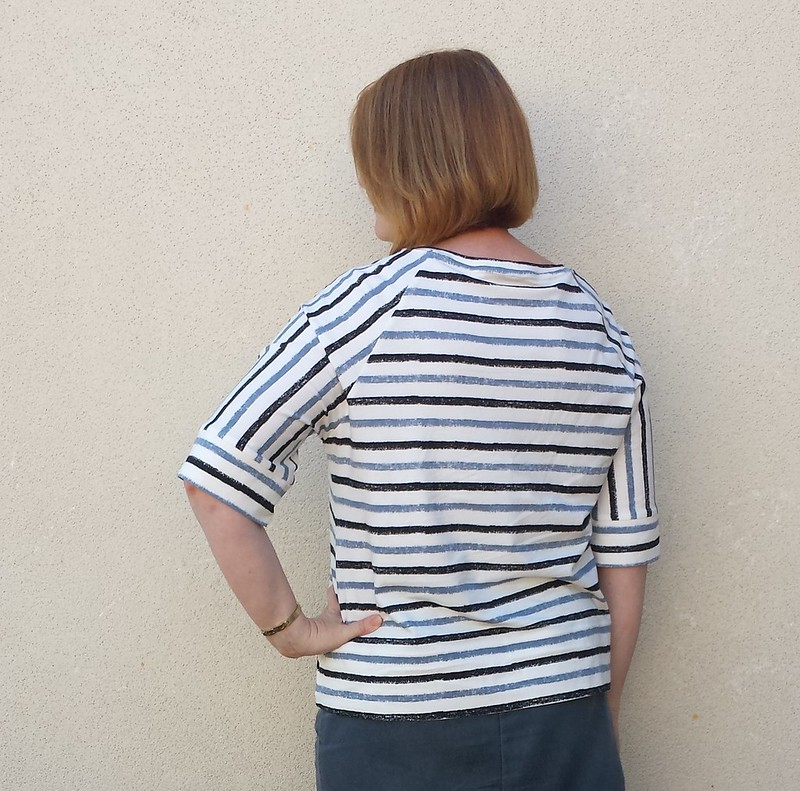Style Arc Maddison top in knit from Darn Cheap Fabrics