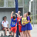CHO - Sacred Heart's Kian McPartlin goes for goal in the netball