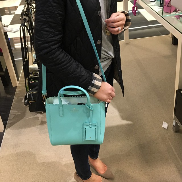 Kate Spade Cape Drive Margy Scallop Crossbody in soft aqua