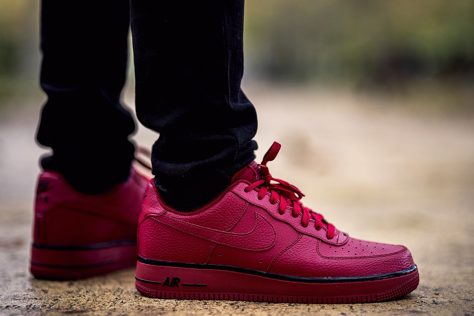 Nike Air Force 1's Red