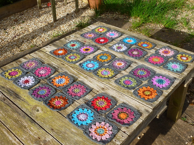 WIP flowery blanket