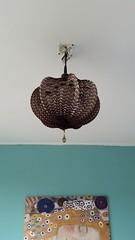 DIY recycle art lamp