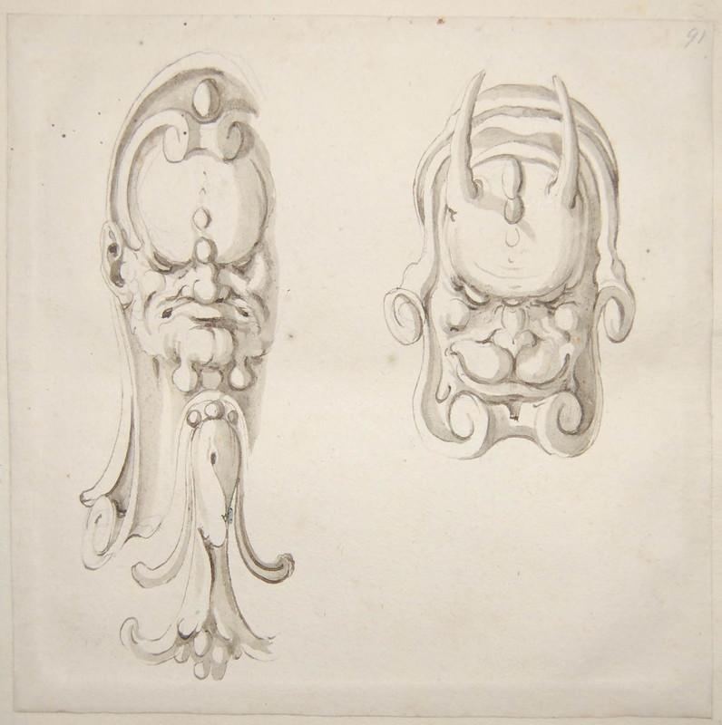 Arent van Bolten - Monster 91, from collection of 425 drawings, 1588-1633