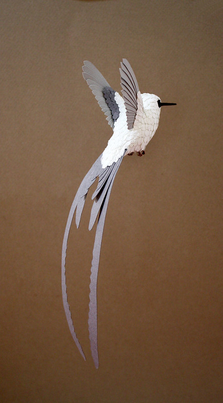 Paper and Wood Hummingbird Resin and Paper Sculpture Kit - in progress
