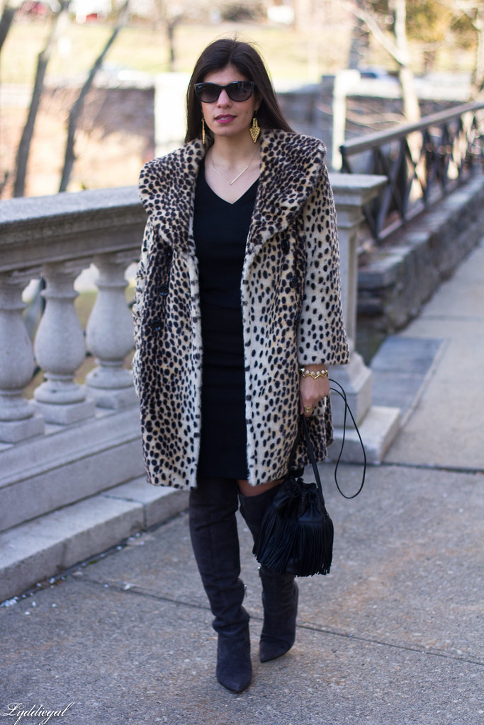 Black skirt, black top, leopard fur coat, over the knee boots-9.jpg