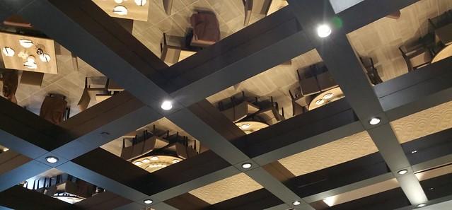 2016-Jan-22 Dinesty Dumpling House Burnaby - mirrored ceiling