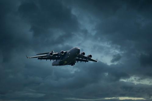 clouds canon airplane flying unitedstates aircraft north flight c17 c17globemaster