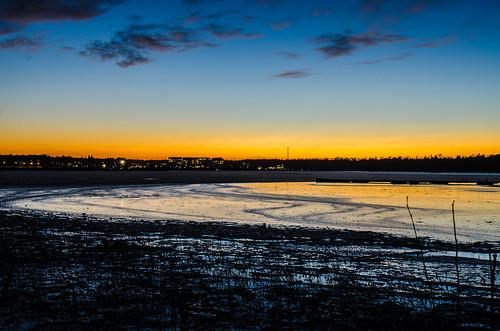 winter sunset finland evening gulf dusk kokkola