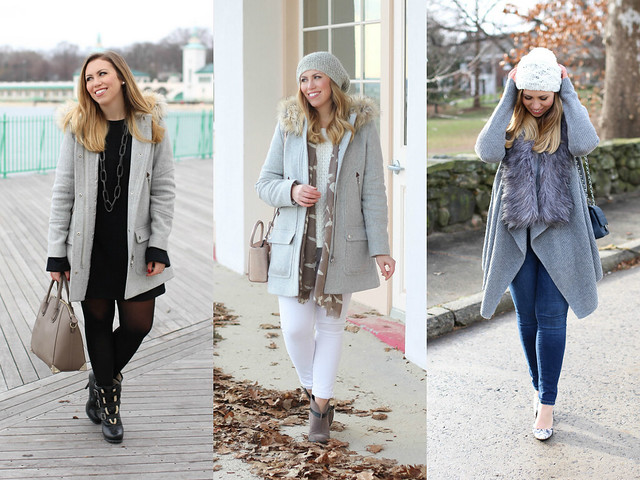 January 2016 Fashion on Living After Midnite | Gray Neutral Winter Outfits