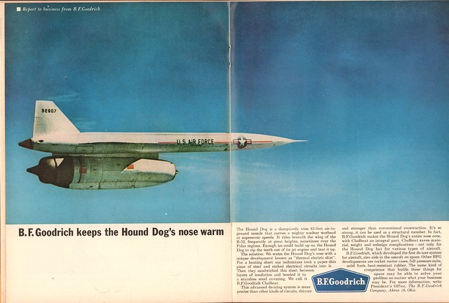 1962 BF Goodrich Hound Dog Missle Advertisement Time Magazine March 2 1962