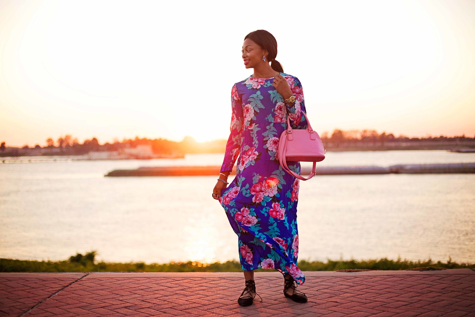 styling a maxi dress in winter baton rouge blogger
