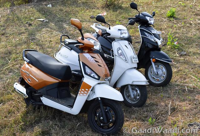 Mahindra Gusto125 vs Activa125 vs Suzuki access 125 -8