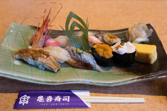 亀喜寿司 季節盛合せ