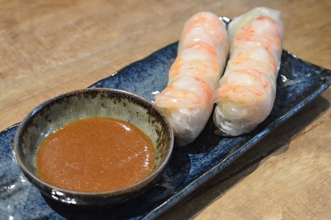 Pork & prawn rice paper rolls