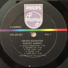 HARVEY MANDEL:CRISTO REDENTOR(LABEL SIDE-A)