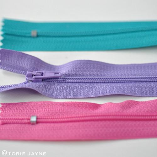 Closed end nylon zips